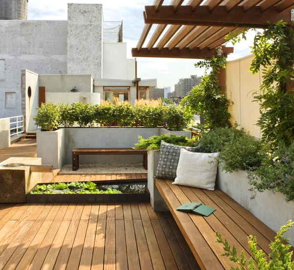 Balcony roof top garden somethingnew for Terrace kitchen garden india